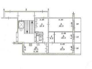 Продажа квартир: 3-комнатная квартира, Новосибирск, ул. Кропоткина, 269, фото 1