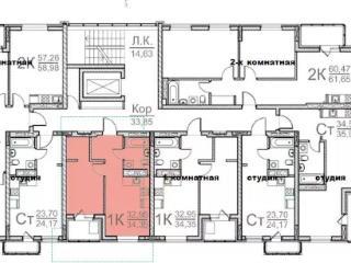 Продажа квартир: 1-комнатная квартира, Барнаул, ул. Гулькина, 41, фото 1