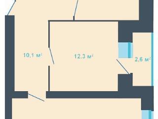 Продажа квартир: 2-комнатная квартира в новостройке, Тверь, ул. Фрунзе, 24, фото 1