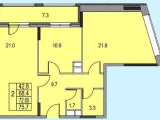 Продажа квартир: 2-комнатная квартира, Московская область, Королев, Советская ул., 8, фото 1
