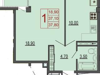 Продажа квартир: 1-комнатная квартира в новостройке, Краснодар, Византийская ул., 13, фото 1