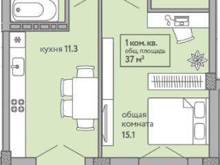 Продажа квартир: 1-комнатная квартира в новостройке, Краснодар, Кореновская ул., 8, фото 1