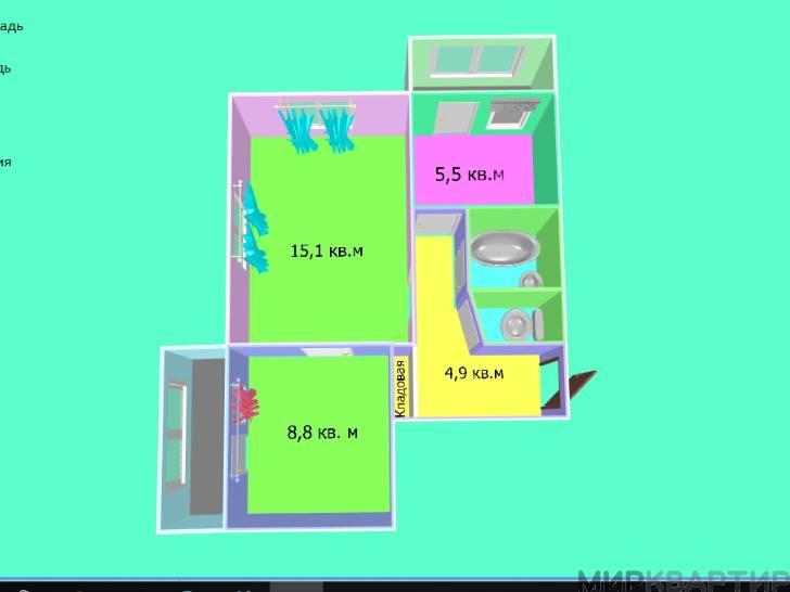 Купить 2 комнатную квартиру по адресу: Черкесск г ул Ставропольская 20